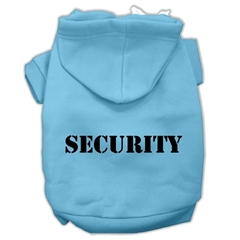 Mirage Pet Products Security Screen Print Pet Hoodies Baby Blue Size w/ Black Size text Sm (10)