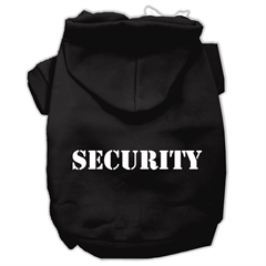 Mirage Pet Products Security Screen Print Pet Hoodies Black Size w/ Cream Size text XS (8)