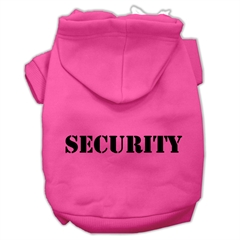 Mirage Pet Products Security Screen Print Pet Hoodies Bright Pink Size w/ Black Size text XXXL (20)