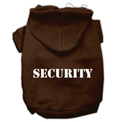 Mirage Pet Products Security Screen Print Pet Hoodies Brown Size Sm (10)