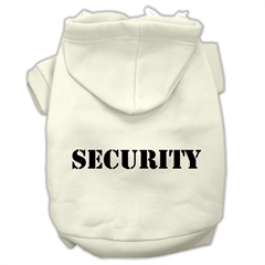 Mirage Pet Products Security Screen Print Pet Hoodies Cream Size w/ Black Size text Lg (14)
