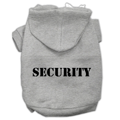 Mirage Pet Products Security Screen Print Pet Hoodies Grey Size w/ Black Size text XS (8)