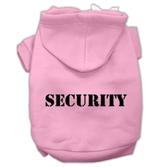 Mirage Pet Products Security Screen Print Pet Hoodies Light Pink Size w/ Black Size text XS (8)