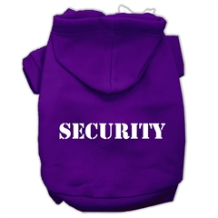 Mirage Pet Products Security Screen Print Pet Hoodies Purple Size w/ Cream Size text XL (16)