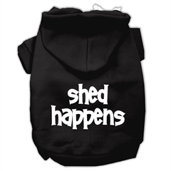 Mirage Pet Products Shed Happens Screen Print Pet Hoodies Black Size XXL (18)