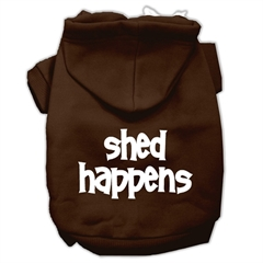 Mirage Pet Products Shed Happens Screen Print Pet Hoodies Brown Size XXXL (20)