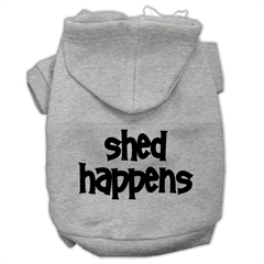 Mirage Pet Products Shed Happens Screen Print Pet Hoodies Grey Size Sm (10)