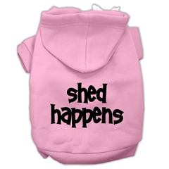 Mirage Pet Products Shed Happens Screen Print Pet Hoodies Light Pink Size XXL (18)