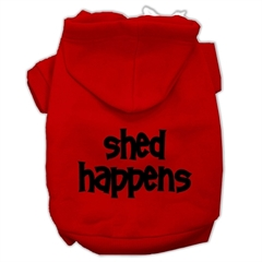 Mirage Pet Products Shed Happens Screen Print Pet Hoodies Red Size Sm (10)