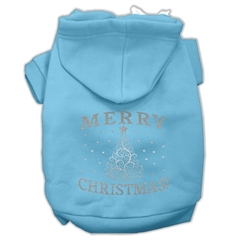 Mirage Pet Products Shimmer Christmas Tree Pet Hoodies Baby Blue Size XL (16)
