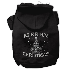 Mirage Pet Products Shimmer Christmas Tree Pet Hoodies Black Size Sm (10)