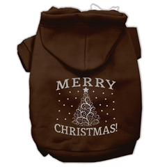 Mirage Pet Products Shimmer Christmas Tree Pet Hoodies Brown Size Sm (10)