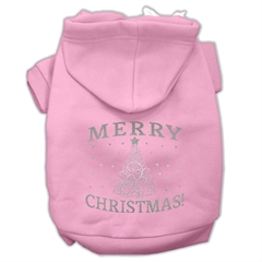 Mirage Pet Products Shimmer Christmas Tree Pet Hoodies Light Pink Size Med (12)