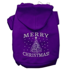 Mirage Pet Products Shimmer Christmas Tree Pet Hoodies Purple Size XS (8)