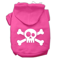 Mirage Pet Products Skull Crossbone Screen Print Pet Hoodies Bright Pink Size XS (8)