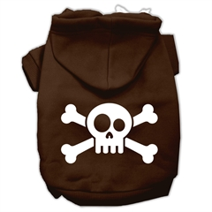 Mirage Pet Products Skull Crossbone Screen Print Pet Hoodies Brown Size XXL (18)