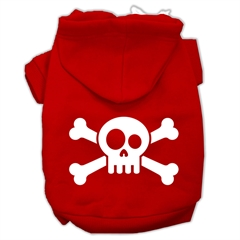 Mirage Pet Products Skull Crossbone Screen Print Pet Hoodies Red Size XS (8)