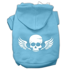 Mirage Pet Products Skull Wings Screen Print Pet Hoodies Baby Blue Size XS (8)