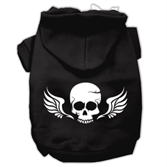 Mirage Pet Products Skull Wings Screen Print Pet Hoodies Black Size XS (8)