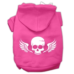 Mirage Pet Products Skull Wings Screen Print Pet Hoodies Bright Pink Size XS (8)