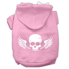 Mirage Pet Products Skull Wings Screen Print Pet Hoodies Light Pink Size XXL (18)