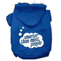 Mirage Pet Products Smarter then Most People Screen Printed Dog Pet Hoodies Blue Size XXXL (20)