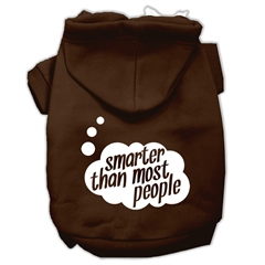Mirage Pet Products Smarter then Most People Screen Printed Dog Pet Hoodies Brown Size XXL (18)