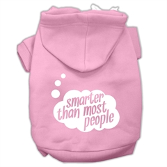 Mirage Pet Products Smarter then Most People Screen Printed Dog Pet Hoodies Light Pink Size XS (8)