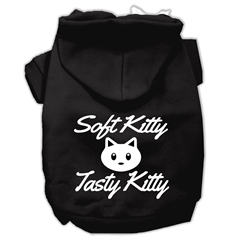 Mirage Pet Products Softy Kitty, Tasty Kitty Screen Print Dog Pet Hoodies Black Size Sm (10)