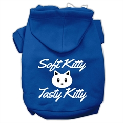 Mirage Pet Products Softy Kitty, Tasty Kitty Screen Print Dog Pet Hoodies Blue Size XXXL (20)