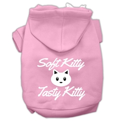 Mirage Pet Products Softy Kitty, Tasty Kitty Screen Print Dog Pet Hoodies Light Pink Size XXXL (20)