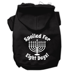 Mirage Pet Products Spoiled for 8 Days Screenprint Dog Pet Hoodies Black Size Med (12)