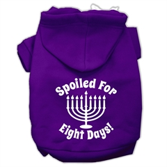 Mirage Pet Products Spoiled for 8 Days Screenprint Dog Pet Hoodies Purple Size XXL (18)