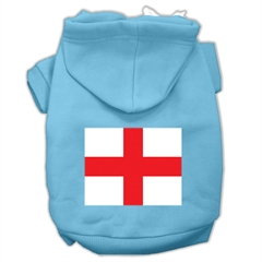 Mirage Pet Products St. George's Cross (English Flag) Screen Print Pet Hoodies Baby Blue Size Lg (14)