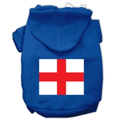 Mirage Pet Products St. George's Cross (English Flag) Screen Print Pet Hoodies Blue Size XXXL (20)