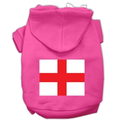 Mirage Pet Products St. George's Cross (English Flag) Screen Print Pet Hoodies Bright Pink Size XXXL (20)