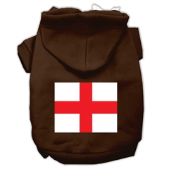 Mirage Pet Products St. George's Cross (English Flag) Screen Print Pet Hoodies Brown Size XS (8)