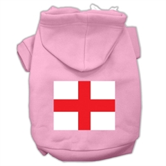 Mirage Pet Products St. George's Cross (English Flag) Screen Print Pet Hoodies Light Pink Size XL (16)