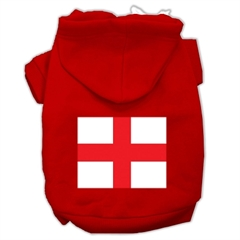 Mirage Pet Products St. George's Cross (English Flag) Screen Print Pet Hoodies Red Size XXXL (20)