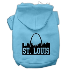 Mirage Pet Products St Louis Skyline Screen Print Pet Hoodies Baby Blue Size Med (12)