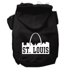 Mirage Pet Products St Louis Skyline Screen Print Pet Hoodies Black Size Lg (14)
