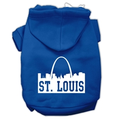 Mirage Pet Products St Louis Skyline Screen Print Pet Hoodies Blue Size Med (12)