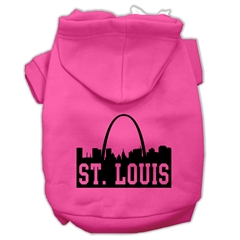 Mirage Pet Products St Louis Skyline Screen Print Pet Hoodies Bright Pink Size Med (12)