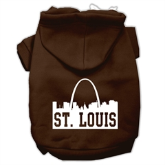 Mirage Pet Products St Louis Skyline Screen Print Pet Hoodies Brown Size XXL (18)