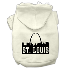 Mirage Pet Products St Louis Skyline Screen Print Pet Hoodies Cream Size XXL (18)