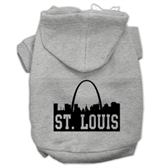 Mirage Pet Products St Louis Skyline Screen Print Pet Hoodies Grey Size XL (16)
