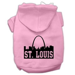 Mirage Pet Products St Louis Skyline Screen Print Pet Hoodies Light Pink Size Sm (10)