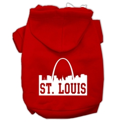 Mirage Pet Products St Louis Skyline Screen Print Pet Hoodies Red Size XXXL (20)