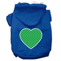 Mirage Pet Products Green Swiss Dot Heart Screen Print Pet Hoodies Blue Size XL (16)