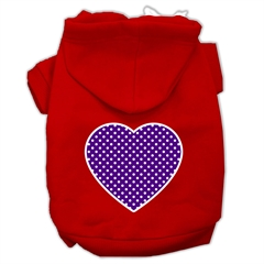 Mirage Pet Products Purple Swiss Dot Heart Screen Print Pet Hoodies Red Size XXXL (20)